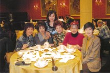 Carol meeting with Elegant Lions Club members - May 2010