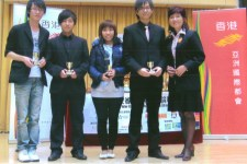 Carol presented trophy to the winners of the Debate Contest - June 2010