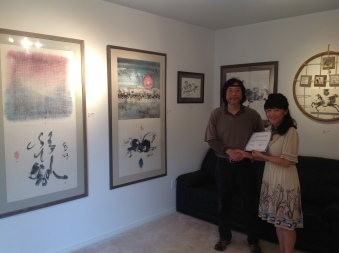 Visit and present the appreciation certificate to Famous contemporary Artist Henry Ho